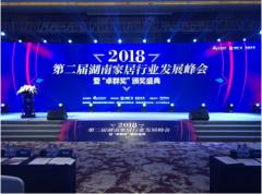 """蓝天豚硅藻泥蝉联""""2018湖南家居行业年度十大影响力品牌"""""""